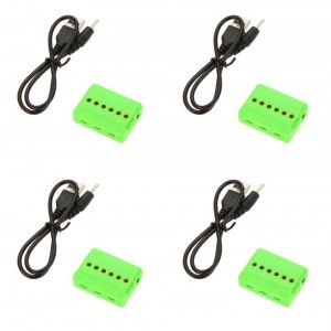 4 x Quantity of X-Drone Nano H107R 6 in 1 3.7v 1S Battery Charger Up To 6 x Batteries At Same Time - FAST FREE SHIPPING FROM Orlando, Florida USA!