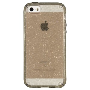 Speck Products CandyShell Clear Case iPhone SE/5S/5 - Retail Packaging - Gold Glitter/Clear