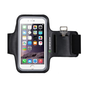 Evershow iPhone 6,6s Armband, Premium Water Resistant Sport Armband for iPhone 6, 6S Case Running Pouch Touch Compatible Key Holder   Also Fits Galaxy S6 Edge, S7