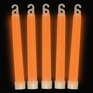 "6""  Glow Sticks Premium: Orange (25-Pack)"