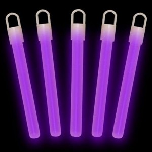 "4""  Glow Sticks Premium: Purple (50-Pack)"