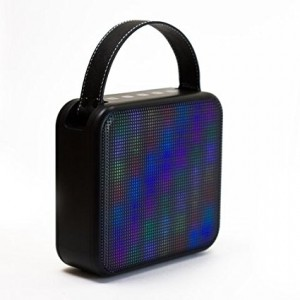 FRESHeTECH FRESHeCOLOR Portable Bluetooth Speaker and Color Changing Party Box, Black