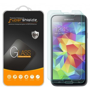 [2-Pack] Supershieldz for Samsung Galaxy S5 Tempered Glass Screen Protector, Anti-Scratch, Anti-Fingerprint, Bubble Free, Lifetime Replacement Warranty