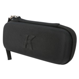 Khanka EVA Carrying Storage Travel Hard Case Cover Bag for PLUSINNO Portable Bluetooth 4.0 Waterproof Wireless Speaker - Black - Mesh Pocket for USB Cable and USB Audio
