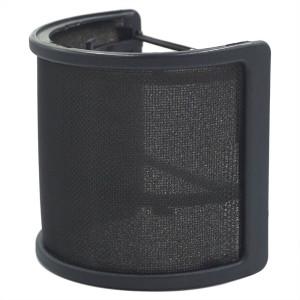 Sywon Metal Mesh and Foam Layer Mic Cover Handheld Microphone Pop Filter Windscreen Wind Screen Studio Shield Mount, Black