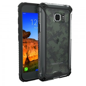 Galaxy S7 Active Case, POETIC Affinity Series Premium Thin/No Bulk/Clear/Dual material Protective Bumper Case for Samsung Galaxy S7 Active (2016) Black/Clear