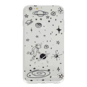 ycmcover iPhone 6 Plus Case Transparent Anti-Slip TPU Back Cover Soft Bumper Gel Ultra Thin 3D Touch Printing for Iphone 6S Plus 5.5inch (astronaut )