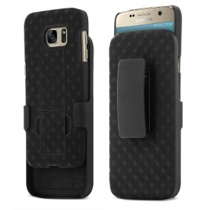 Galaxy S7 Case, Aduro Shell and Holster COMBO Case Super Slim Shell Case w/ Built-In Kickstand + Swivel Belt Clip Holster for Samsung Galaxy S7