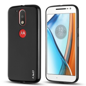 Moto G4 / G4 Plus Case, JandD [Drop Protection] [Slim Cushion] [Lightweight Bumper] Shock Resistant Protective Slim Case for Motorola Moto G4, Moto G4 Plus [NOT COMPATIBLE WITH MOTO G4 PLAY] - Black