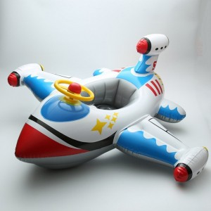 Inflatable Airplane Motorboat Baby Kids Swimming Float Seat Boat Pool Ring-White airplane by F-sport