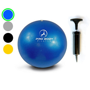 Mini Exercise Ball with Pump - 9 Inch Bender Ball for Stability, Barre, Pilates, Yoga, Core Training and Physical Therapy