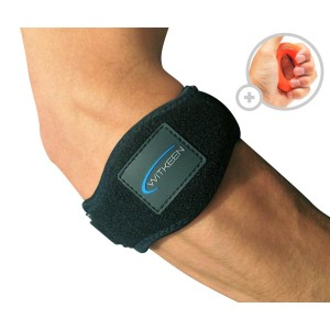 2-Pack Tennis Elbow Brace with Compression Pad by WITKEEN - Adjustable Elbow Support for Tendonitis - Premium Tennis Equipment with Elbow Strap and Hand Grip - E-Guide Bonus