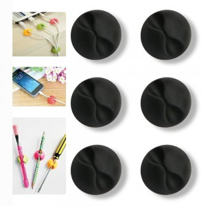 Philonext Desktop Cable Organizer - Wire Clips Cord Organize for Your Computer- Electrical, Charging or Mouse Cord - 6pcs Black