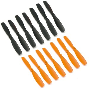 RAYCorp 6045 6x4.5 Bullnose Propellers. 16 Pieces(8 CW, 8 CCW) Black and Orange Genuine and High-Quality 6-inch Quadcopter and Multirotor Props + Battery Strap