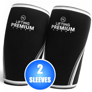 Knee Sleeves (1Pair) Compression and Support for CrossFit, Weightlifting, Powerlifting, Gym and Other Heavy Fitness Workouts - Thick 7mm Neoprene knee sleeve for Squats for Men Women
