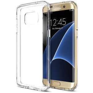 Galaxy S7 Edge Case, Trianium [Clear Cushion] Premium Bumper TPU / PC Scratch Resistant Cases for Samsung Galaxy S7 Edge Seamless integrated Shock-Absorbing Cover with Back Hard Panel - Soft Clear