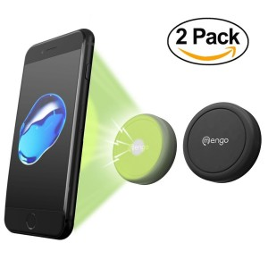 Car Mount, (2 Pack) Mengo Magna-Snap Mini Magnetic Air Vent Car Mount for Smartphones (iPhone, Samsung, HTC, LG, Nokia, and More), Mp3 Players, and GPS Devices - Retail Packaging