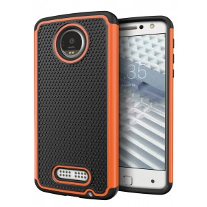 Moto Z Force Droid Case, Cimo [Shockproof] Heavy Duty Shock Absorbing Protection Cover for Motorola Moto Z Force Droid (2016) - Orange