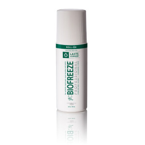 Biofreeze Professional Pain Reliever Gel,Topical Analgesic Cream for Enhanced Relief of Arthritis, Muscle, and Joint Pain, NSAID Free Cold Therapy Roll-On 3 Ounce, Original Green Formula, 5% Menthol