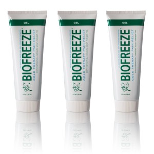 Biofreeze Pain Relief Gel for Arthritis, 4 oz. Cold Topical Analgesic, Fast Acting Cooling Pain Reliever for Muscle, Joint, and Back Pain, Works Like Ice Pack, Original Green Formula, 3 pack, 4% Menthol