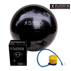 2000lbs Static Strength Exercise Yoga Fitness Stability Ball with Foot Pump Slip Resistant GYM QUALITY Improves Balance, Core Strength, Back Pain and Posture - For Men and Women