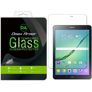Samsung Galaxy Tab S2 8.0 inch Screen Protector, Dmax Armor [Tempered Glass] 0.3mm 9H Hardness, Anti-Scratch, Anti-Fingerprint, Bubble Free, Ultra-clear