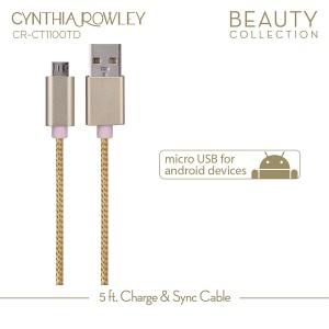 Cynthia Rowley Micro USB Cable for Android - Pink