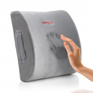 Ziraki Memory Foam Lumbar Cushion - Premium Lumbar Lower Back Pain Lumbar Pillow, Protect and Soothe Your Back - Improve Your Posture - Soft and Firm Balanced Lumbar Support Pillow- Including Gift Bag