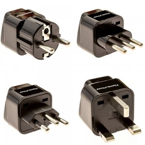 European Travel Adapter Plug Set - Pack of 4 Universal Outlet Adapters For All Of Europe (Type C, E, F, G J, L) - Works In France, UK, Switzerland, Spain, Italy, United Kingdom, Germany and Turkey