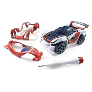 Modarri Delux T1 Track Car Build Your Car Kit Toy Set - Ultimate Toy Car: Make Your Own Car Toy - For Thousands of Designs - Real Steering and Suspension - Educational Take Apart Toy Vehicle