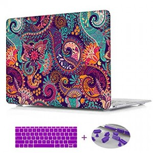 Macbook Air 13.3 Case,Paisley seamless pattern Print Laptop Sleeve Hard Cover Case For Macbook Air 13 (Model:A1369/A1466)