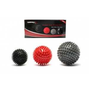 Spiky Massage Ball For Total Body Muscle Relief - 3 PACK - 9cm, 7.5cm and 6cm Premium Spiky Balls To Relieve Pain, Improve Flexibility, Mobility and Circulation