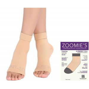 Zoomie's Plantar Fasciitis Socks - Heel, Arch Support Socks, Achilles Tendon and Ankle Support Socks - Foot Sleeve - 3 Colors Available - 1 Pair
