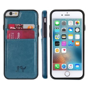 iPhone 6 6s (4.7 inch) Case, JY Smart PU Leather Slim Fit Snap On Executive Wallet Card Case for iPhone 6 6s (Darkcyan)