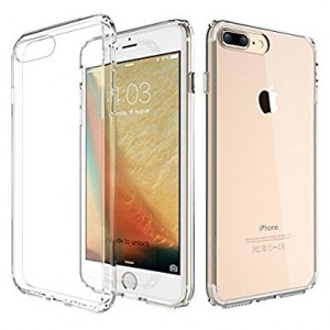 "ATGOIN iPhone 7 Plus Case Utmost Hybrid Crystal Clear Flexible TPU Hybrid Protective Shock Absorbing Bumper Case with Clear Back Panel for iPhone 7 Plus 5.5""  2016 - Clear"