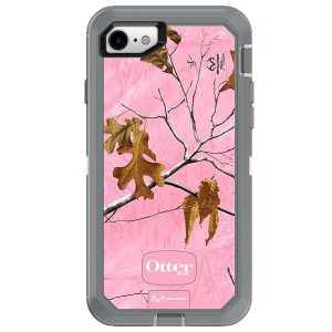 OtterBox DEFENDER SERIES Case for iPhone 8 and iPhone 7 (NOT Plus) - Frustration Free Packaging - REALTREE XTRA PINK (WHITE/GUNMETAL GREY/XTRA PINK DESIGN)