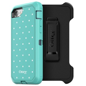 OtterBox DEFENDER SERIES Case for iPhone 8 and iPhone 7 (NOT Plus) - Frustration Free Packaging - MINT DOT (TEMPEST BLUE/AQUA MINT/MINT DOT GRAPHIC)