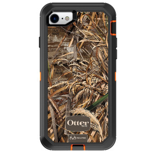 OtterBox DEFENDER SERIES Case for iPhone 8 and iPhone 7 (NOT Plus) - Frustration Free Packaging - REALTREE MAX 5HD (BLAZE ORANGE/BLACK/MAX 5 DESIGN)