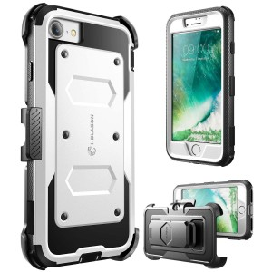 iPhone 7 Case, iPhone 8 Case [Armorbox] i-Blason built in [Screen Protector] [Full body] [Heavy Duty Protection ] Shock Reduction / Bumper Case for Apple iPhone 7/iPhone 8 (White)