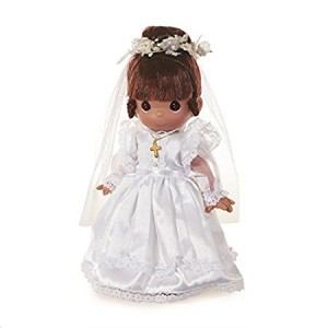 Precious Moments Dolls by The Doll Maker, Linda Rick, My First Communion, Brunette, 9 inch doll