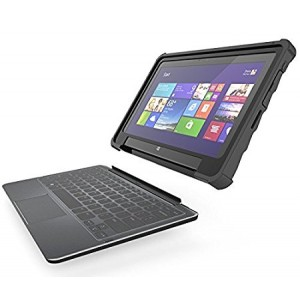 Gumdrop Cases Droptech for Dell Latitude 11 5175 Rugged 2-in-1 Tablet Case Shock Absorbing Cover Black/Black Series 5175