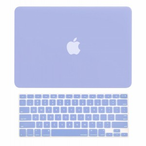"""TOP CASE - 2 in 1 Bundle Deal Air 13-Inch Rubberized Hard Case Cover and Matching Color Keyboard Cover for Macbook Air 13""""  (A1369 and A1466) with TopCase Mouse Pad - Serenity Blue"""