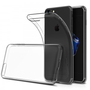 Simpeak Soft TPU Transparent Protector Clear Case for iPhone 7 Plus, iPhone 8 Plus [Anti Slip][Scratch Resistant]