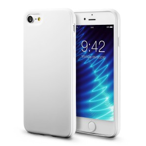 iPhone 7 White Case / iPhone 8 White Case, technext020 Shockproof Ultra Slim Fit Silicone TPU Soft Gel Rubber Cover Shock Resistance Protective Back Bumper for iPhone 7 / iPhone 8 White