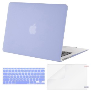 Mosiso Plastic Hard Case with Keyboard Cover with Screen Protector for MacBook Air 11 Inch(Models: A1370 and A1465), Serenity Blue