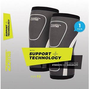 Knee Sleeves (1 Pair) Ultimate Knee Support and Compression, knee brace for Weightlifting, Basketball or Crossfit - Men and Women - Lifetime Replacement!