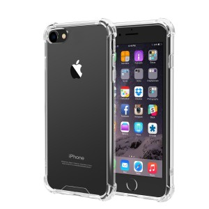 iPhone 7, iPhone 8 Case, iXCC Crystal Clear Hard Cover Case [Shock Absorption] with Soft TPU Bumper for iPhone 7 (4.7 Inch 2016 Release) iPhone 8- Clear
