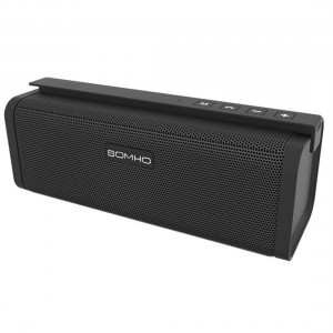Mini Bluetooth Speakers, HLS S311 10W Dual-Driver Portable Wireless Stereo Outdoor Speaker with FM Radio, Micro SD Card and Built-in Mic for Calls, for iPhone iPad and Other Bluetooth Devices - Black