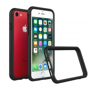 iPhone 8 Case [Also fits iPhone 7] - RhinoShield [CrashGuard] Bumper [11 Ft Drop Tested] No Bulk [ShockProof Technology] Thin Lightweight Protection - Slim Rugged Cover [Black]
