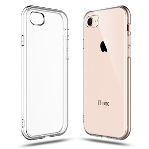 iPhone 7 Case, Shamo's [Crystal Clear] Case [Shock Absorption] Cover TPU Rubber Gel Transparent Clear Back Case, Soft Silicone, Compatible with iPhone 7 and iPhone 8 (Clear)